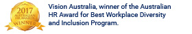 Vision Australia. Winner of the Australian HR Award for Best Workplace Diversity and Inclusion Program. - logo