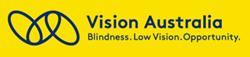 Vision Australia. Blindness. Low Vision.  Opportunity. - logo